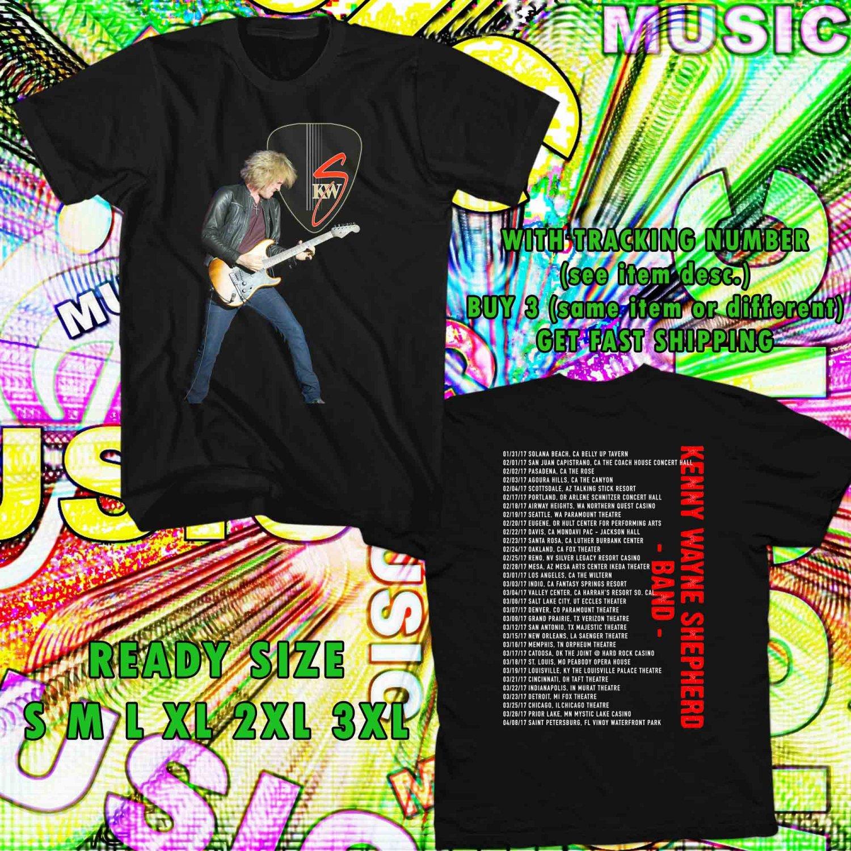 WOW KENNY WAYNE SHEPPERD BAND TOUR 2017 BLACK TEE S-3XL ASTR 223