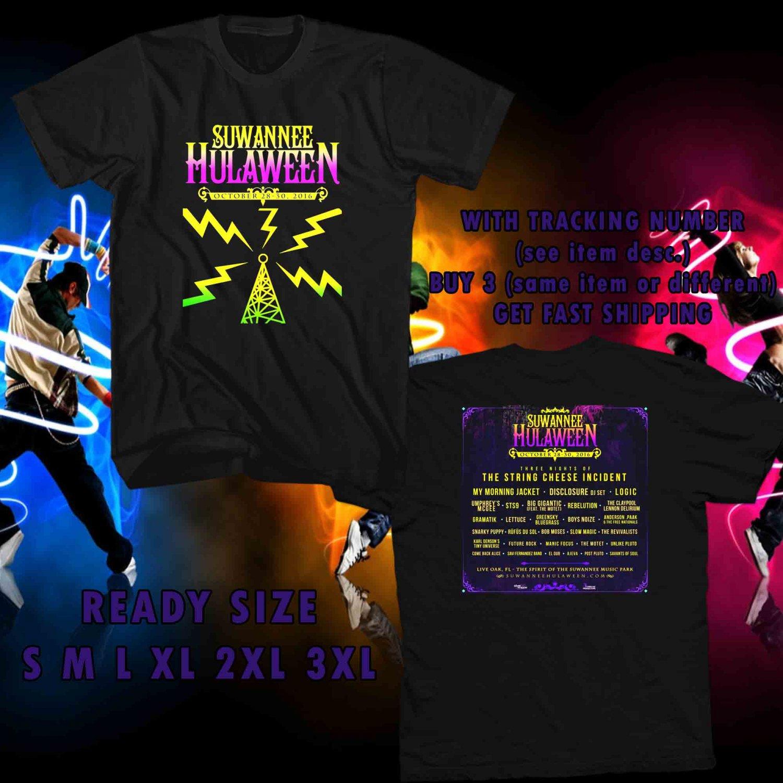 WOW SUWANNEE HULAWEEN FESTIVAL TOUR OCT,2016 BLACK TEE S-3XL ASTR