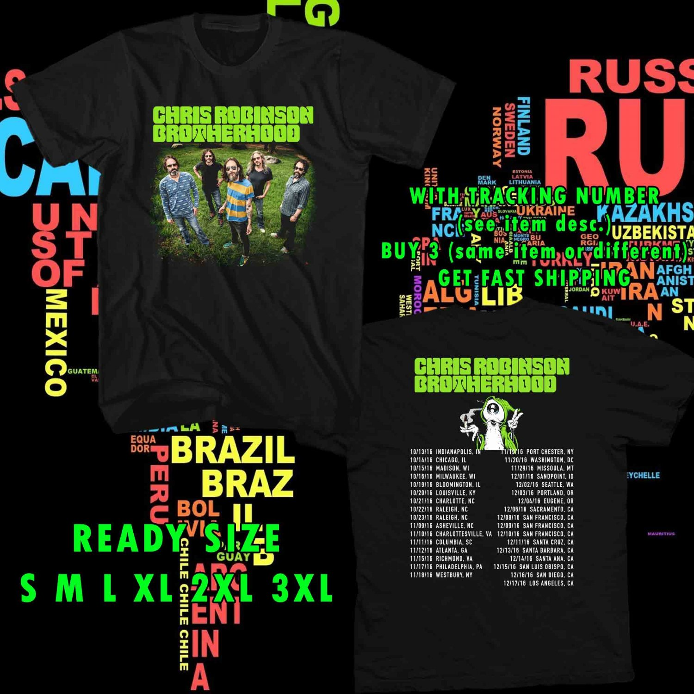 WOW THE CHRIS ROBINSON BROTHERHOOD TOUR 2016 BLACK TEE S-3XL ASTR