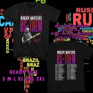 WOW ROGER WATERS US+THEM TOUR 2017 BLACK TEE S-3XL ASTR644