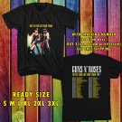 WOW GUNS AND ROSES NOT IN THIS LIFE TIME TOUR 2017 BLACK TEE S-3XL ASTR 164