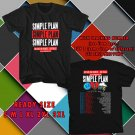 WOW SIMPLE PLAN 15 YEARS ANNIVERSARY TOUR 2017 BLACK TEE S-3XL ASTR