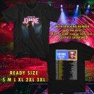 WOW LADY GAGA JOANNE TOUR 2017 BLACK TEE S-3XL ASTR