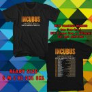 WOW INCUBUS AND JIMMY EAT WORLD TOUR 2017 BLACK TEE S-3XL ASTR