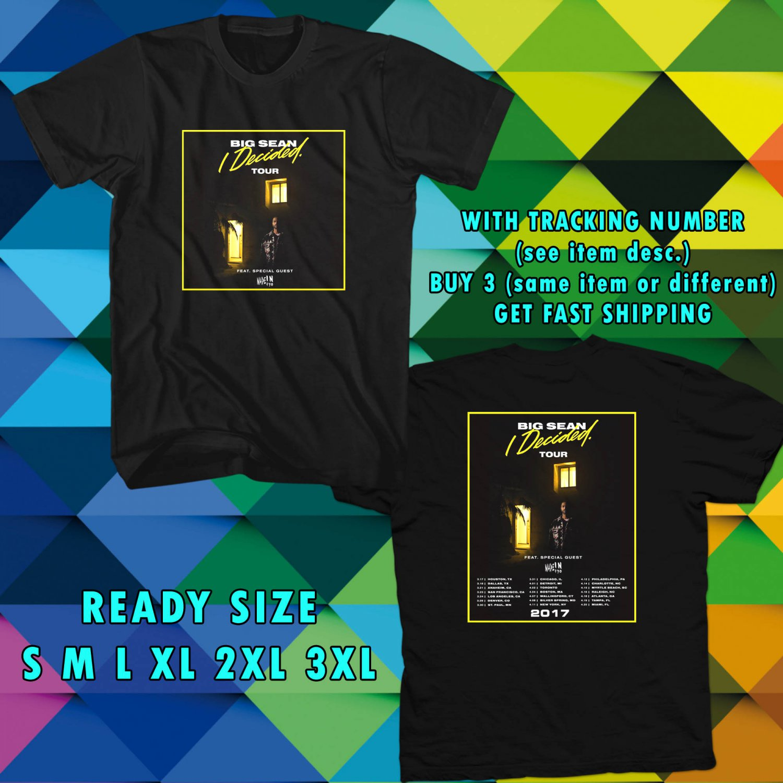 WOW BIG SEAN I DECIDED TOUR 2017 BLACK TEE S-3XL ASTR