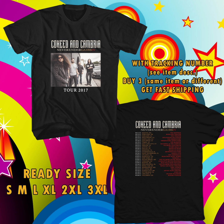 WOW COHEED AND CAMBRIA NEW ALBUM TOUR 2017 BLACK TEE S-3XL ASTR