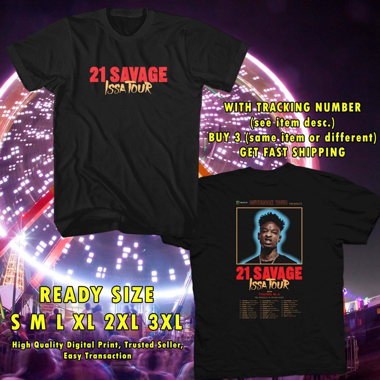WOW 21 SAVAGE ISSA TOUR 2017 BLACK TEE S-3XL ASTR 331