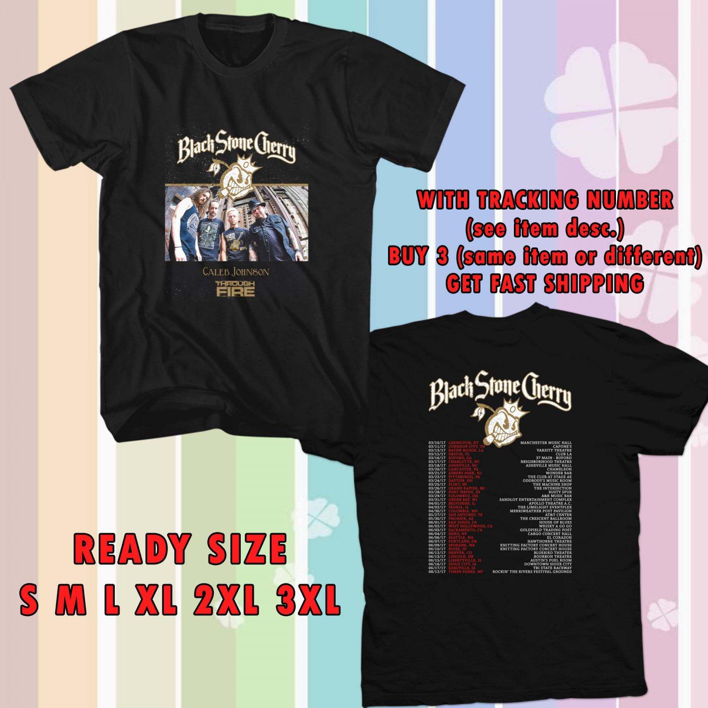WOW BLACK STONE CHERRY US TOUR 2017 BLACK TEE S-3XL ASTR 330