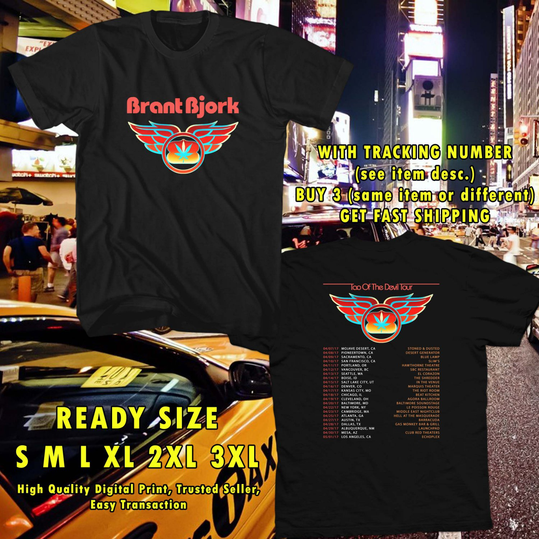 WOW BRANT BJORK TAO OF THE DEVIL TOUR 2017 BLACK TEE S-3XL ASTR