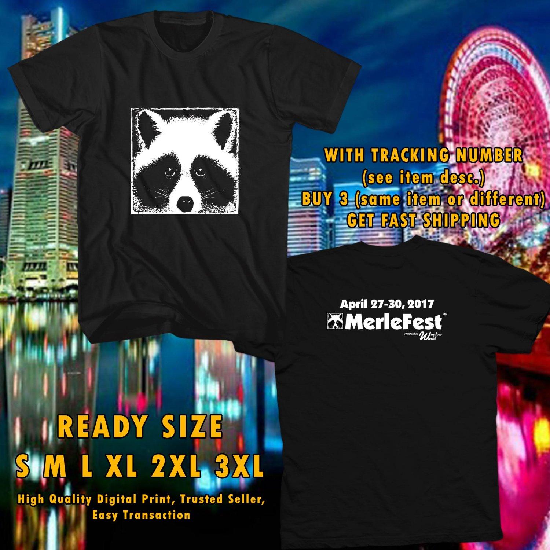 NEW MERLE MUSIC FESTIVAL APR 2017 BLACK TEE 2SIDE DMTR 443