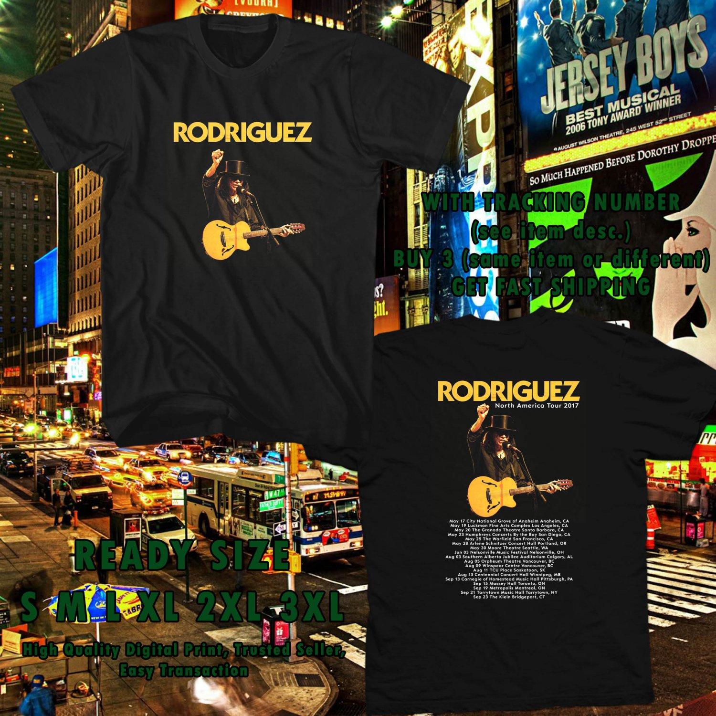 NEW SIXTO RODRIGUEZ N.AMERICA TOUR 2017 black TEE W DATES DMTR