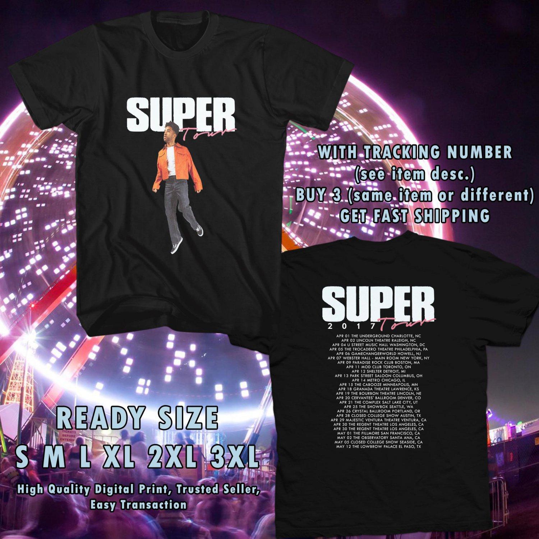 NEW SUPER DUPER KYLE SUPER TOUR 2017 BLACK TEE W DATES DMTR