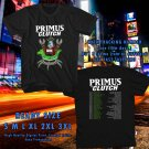 NEW AN EVENING WITH PRIMUS AND CLUTCH SUMMER TOUR 2017 black TEE W DATES DMTR 112