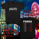 NEW PHORA YOURS TRULY TOUR 2017 BLACK TEE W DATES DMTR