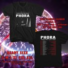NEW PHORA YOURS TRULY TOUR 2017 BLACK TEE W DATES DMTR 153