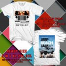HITS JEEP BEACHJAM FESTIVAL 2017 WHITE TEE'S 2SIDE MAN WOMEN ASTR
