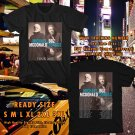 HITS MICHAEL McDONALD & BOZZ SCAGGS TOUR 2017 BLACK TEE'S 2SIDE MAN WOMEN ASTR 331