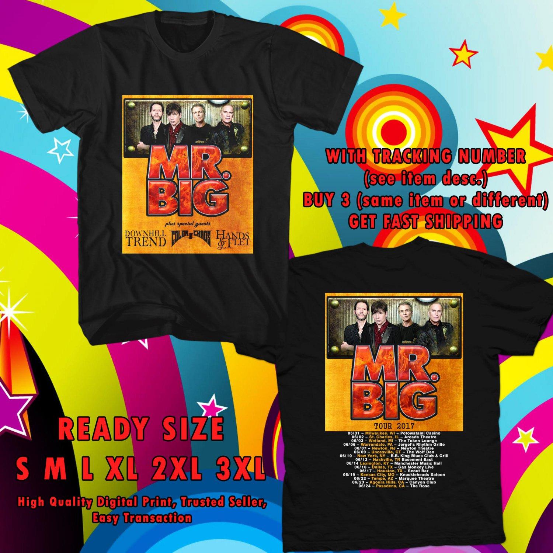 HITS MR. BIG NEW ALBUM DEFYING GRAVITYV TOUR 2017 BLACK TEE'S 2SIDE MAN WOMEN ASTR 332