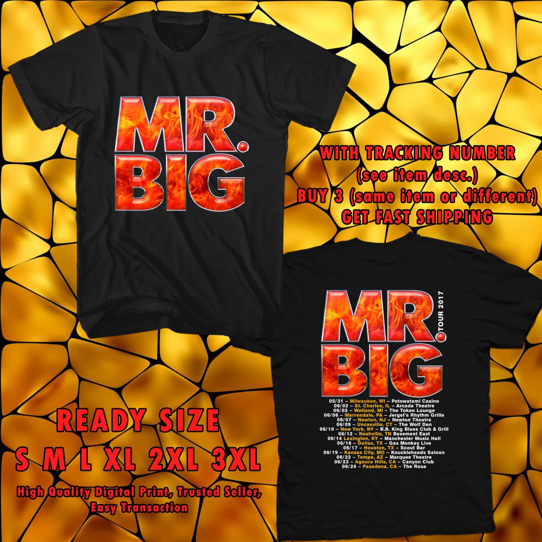 HITS MR. BIG NEW ALBUM DEFYING GRAVITYV TOUR 2017 BLACK TEE'S 2SIDE MAN WOMEN ASTR
