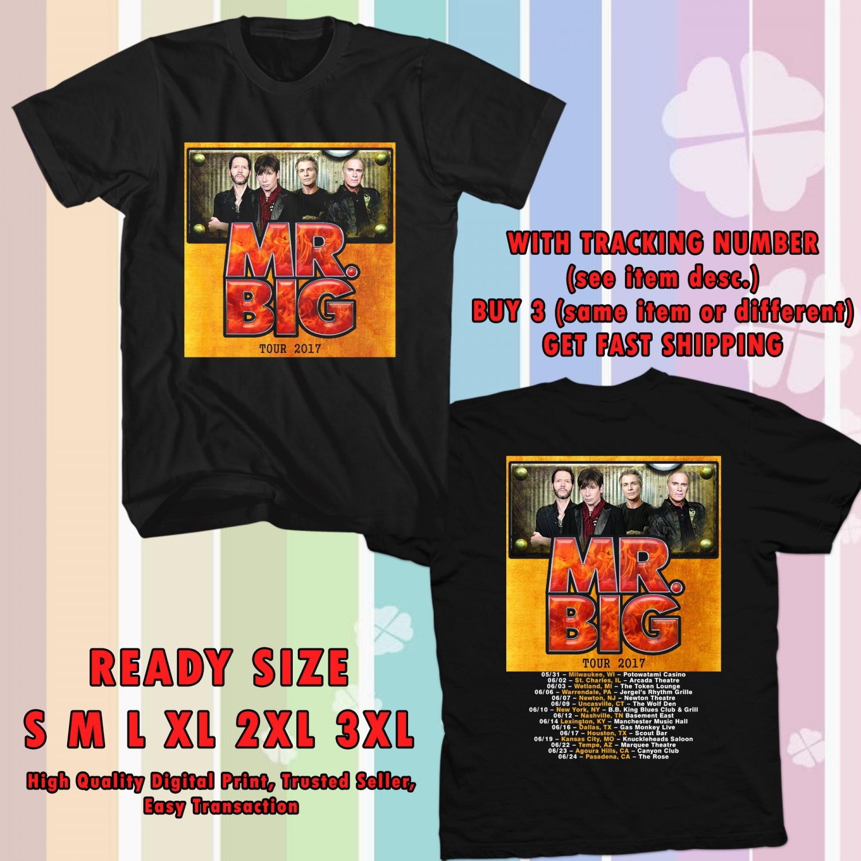 HITS MR. BIG NEW ALBUM DEFYING GRAVITYV TOUR 2017 BLACK TEE'S 2SIDE MAN WOMEN ASTR 116