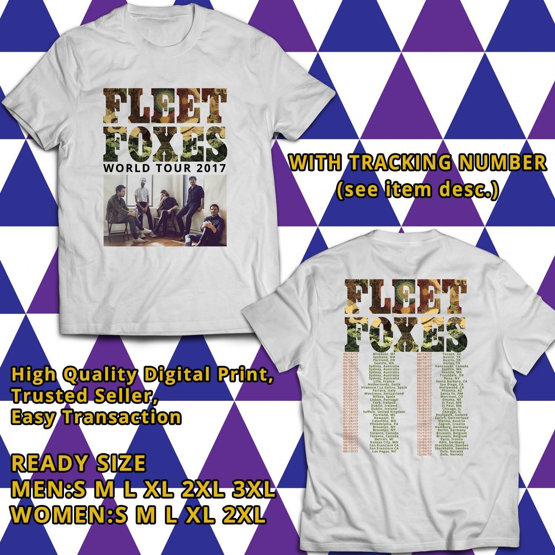 HITS FLEET FOXES WORLD TOUR 2017 WHITE TEE'S 2SIDE MAN WOMEN ASTR