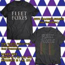 HITS FLEET FOXES WORLD TOUR 2017 BLACK TEE'S 2SIDE MAN WOMEN ASTR