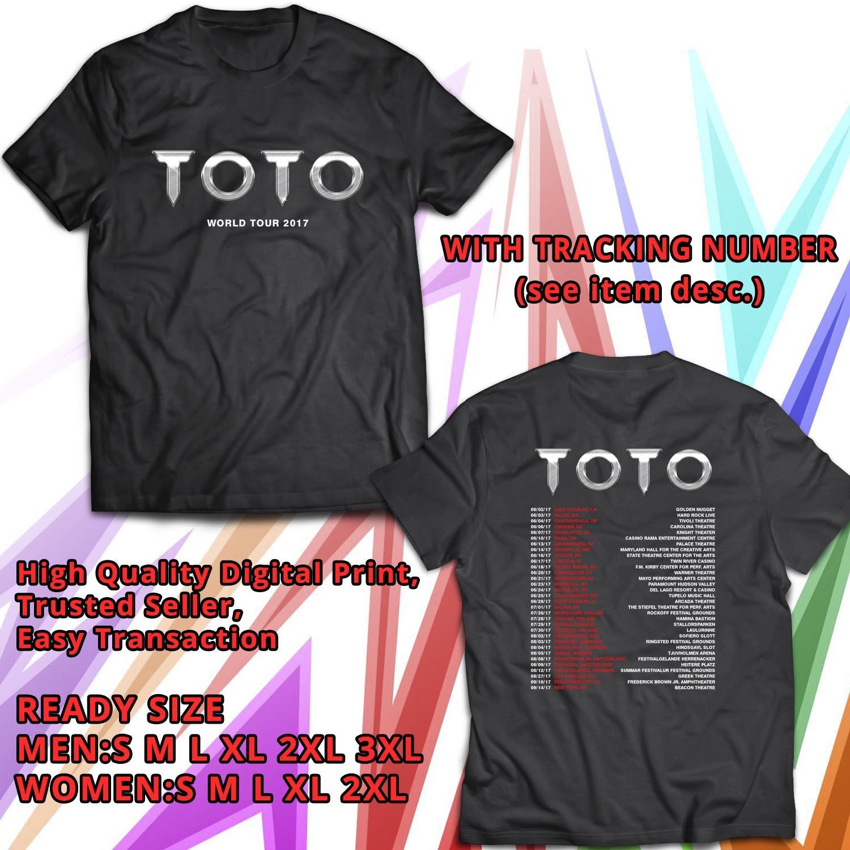 HITS TOTO WORLD TOUR 2017 BLACK TEE'S 2SIDE MAN WOMEN ASTR