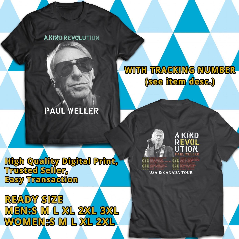 HITS PAUL WELLER A KIND REVOLUTION TOUR 2017 BLACK TEE'S 2SIDE MAN WOMEN ASTR 332