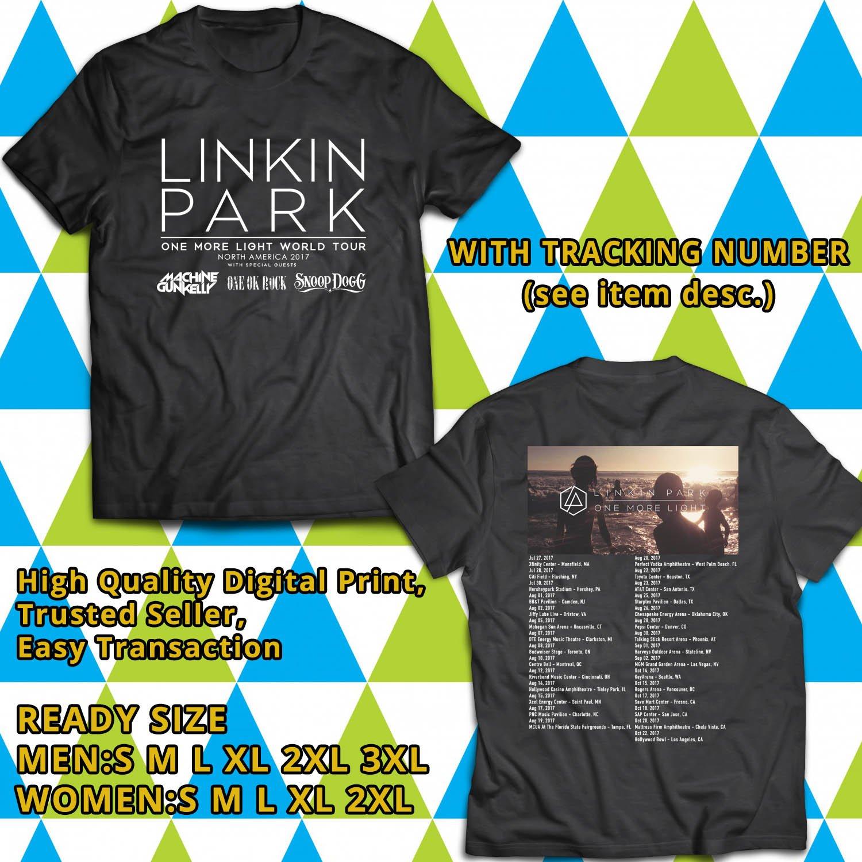 HITS LINKIN PARK ONE MORE LIGHT TOUR 2017 BLACK TEE'S 2SIDE MAN WOMEN ASTR 443