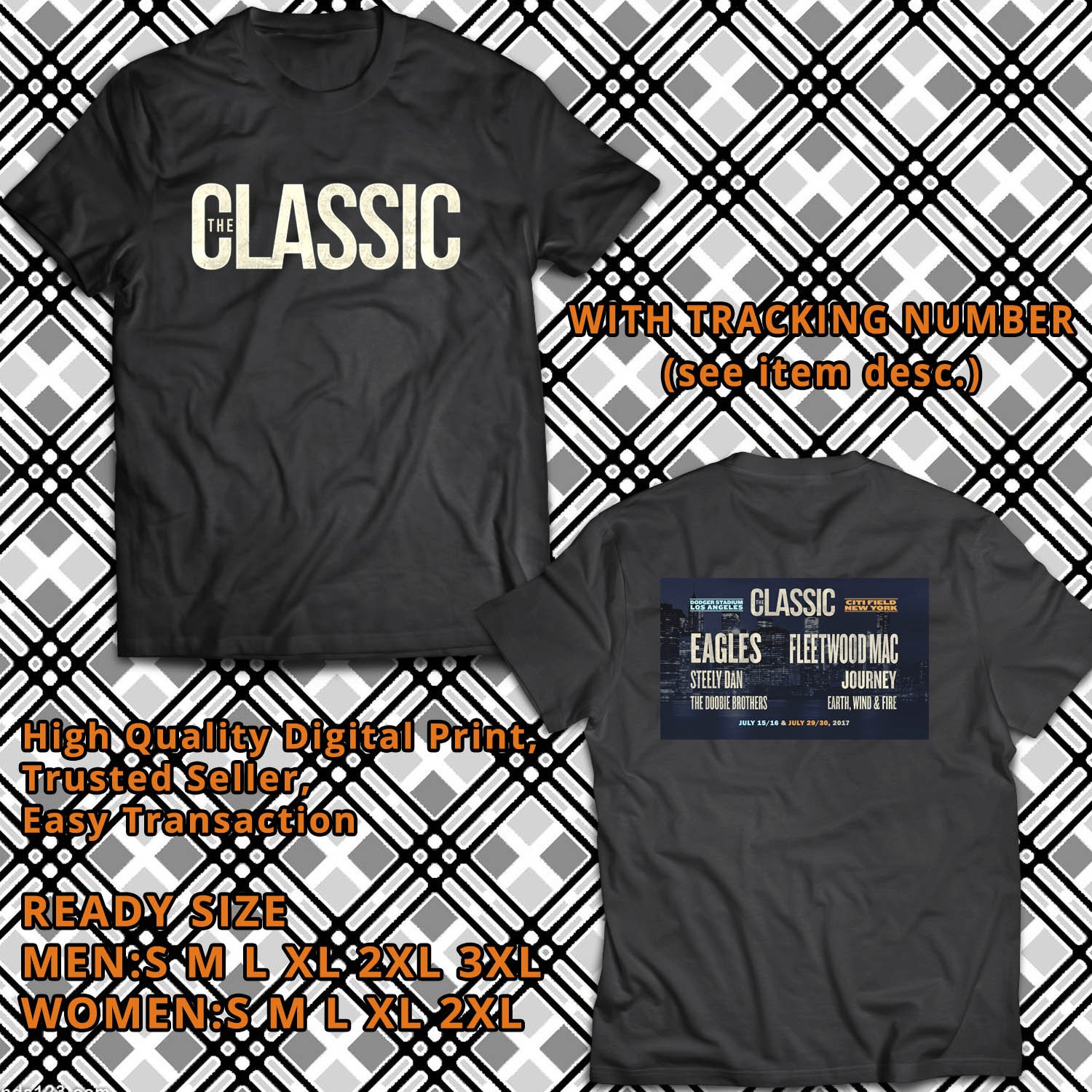 HITS THE CLASSIC EAST AND WEST JULY 2017 BLACK TEE'S 2SIDE MAN WOMEN ASTR