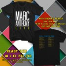 HITS MARC ANTHONY FULL CIRCLE USA TOUR 2017 BLACK TEE'S 2SIDE MAN WOMEN ASTR 332