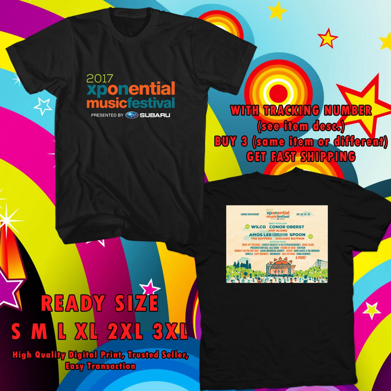 HITS XPONENTIAL FEST ON JUL 2017 BLACK TEE'S 2SIDE MAN WOMEN ASTR