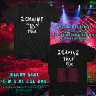 HITS 2 CHAINZ PRETTY GIRLS LIKE TRAP MUSIC TOUR 2017 BLACK TEE'S 2SIDE MAN WOMEN ASTR 443