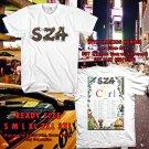 HITS SZA CTRL THE TOUR 2017 WHITE TEE'S 2SIDE MAN WOMEN ASTR 332