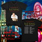 HITS K.D. LANG INGENUE REDUX 25TH ANNIVERSARY CANADA TOUR 2017 BLACK TEE'S 2SIDE MAN WOMEN ASTR