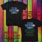 HITS THE WHO WORLD TOUR 2017 BLACK TEE'S 2SIDE MAN WOMEN ASTR 932