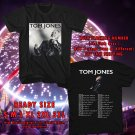 HITS TOM JONES LONG LOST SUITCASE TOUR 2017 BLACK TEE'S 2SIDE MAN WOMEN ASTR