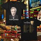 HITS TOM JONES LONG LOST SUITCASE TOUR 2017 BLACK TEE'S 2SIDE MAN WOMEN ASTR 990