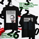 HITS MARYLIN MANSON HEAVEN UPSIDE DOWN TOUR 2018 BLACK TEE'S 2SIDE MAN WOMEN ASTR 811