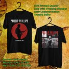 HITS PHILLIP PHILLIPS THE MAGNETIC TOUR 2018 BLACK TEE'S 2SIDE MAN WOMEN ASTR 844