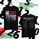 HITS PHILLIP PHILLIPS THE MAGNETIC TOUR 2018 BLACK TEE'S 2SIDE MAN WOMEN ASTR 811