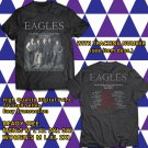 HITS EAGLES NORTH AMERICA TOUR 2018 BLACK TEE'S 2SIDE MAN WOMEN ASTR