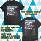 HITS FOREIGNER ON NORTH AMERICA TOUR 2018 BLACK TEE'S 2SIDE MAN WOMEN ASTR
