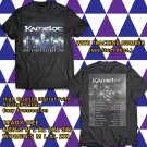 HITS KAMELOT w DELAIN N.AMERICA TOUR 2018 BLACK TEE'S 2SIDE MAN WOMEN ASTR