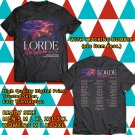 HITS LORDE MELODRAMA N.AMERICA TOUR 2018 BLACK TEE'S 2SIDE MAN WOMEN ASTR