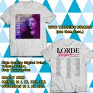 HITS LORDE MELODRAMA N.AMERICA TOUR 2018 WHITE TEE'S 2SIDE MAN WOMEN ASTR
