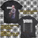 HITS JACKSON BROWNE LIVE TOUR 2018 BLACK TEE'S 2SIDE MAN WOMEN ASTR