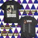 HITS JACKSON BROWNE LIVE TOUR 2018 BLACK TEE'S 2SIDE MAN WOMEN ASTR 554
