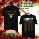 HITS THIS HOUSE IS NOT FOR SALE BON JOVI EXTEND TOUR 2018 BLACK TEE'S 2SIDE MAN WOMEN ASTR 776