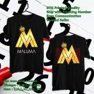 HITS MALUMA F.A.M.E TOUR 2018 BLACK TEE'S 2SIDE MAN WOMEN ASTR 554
